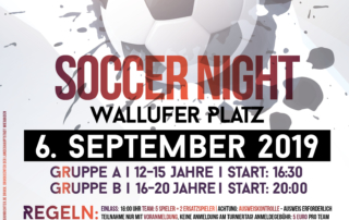 Soccer Night Wallufer Platz am 6.9.2019