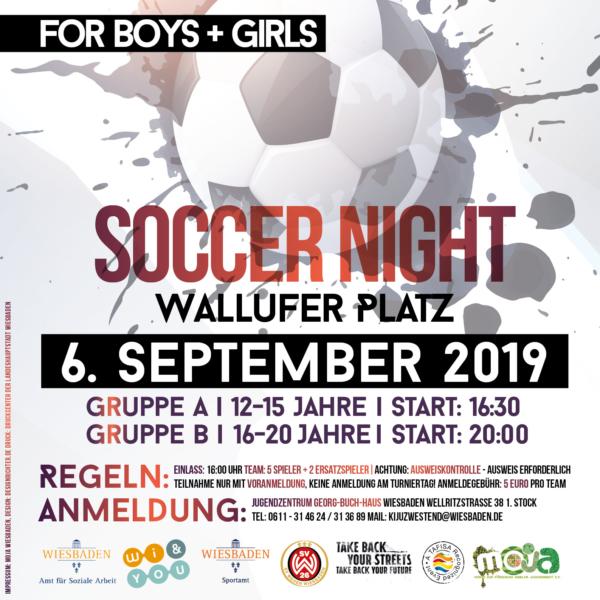 Soccer Night Wallufer Platz am 6.9.2019